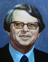 Painted portrait of Charles R. Jerge, D.D.S., Ph.D.